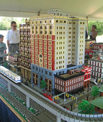 Michigan Lego Train Club Display at the 2008 LibertyFest, Canton, Michigan