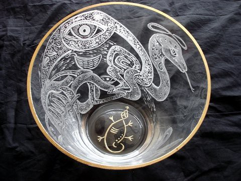 Journey of a hummingbird 2005 Glass engraving (3)