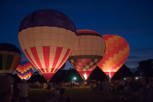 sunset summer festival twilight louisiana raw balloon batonrouge acr hotairballoons balloonglow 30d montgolfier canon30d canonefs1785mmf456isusm chrislin christopherlin penningtonballoonchampionship