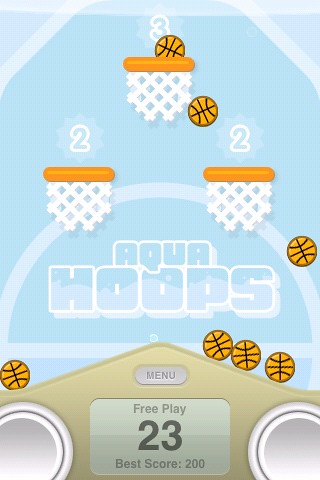 Aqua hoops retro gaming fun
