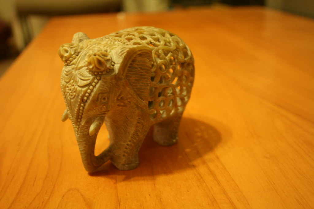 Elephant Made From Camel Bone Carved Elephant Made From Ca Flickr