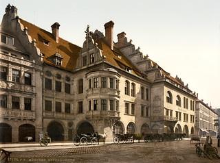 Hofbräuhaus, Munich, Bavaria, Germany, ca. 1900