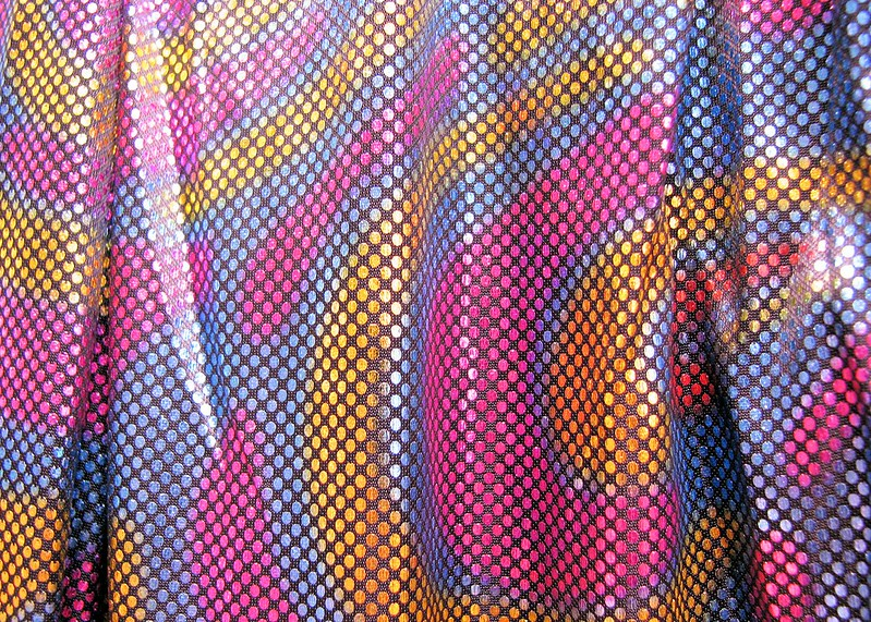 shiny disco fabric