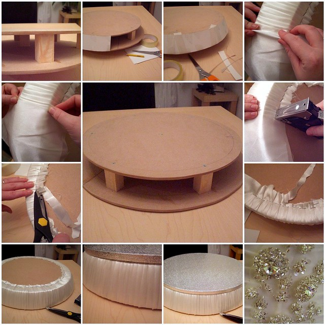 The wedding cake stand in the making ...