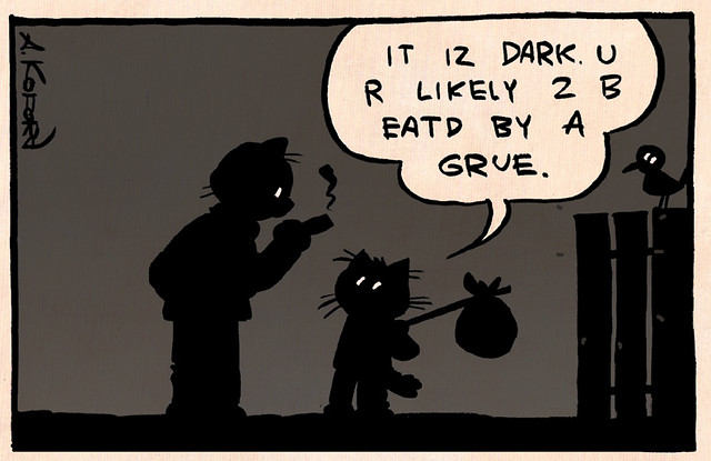 Laugh-Out-Loud Cats #767   If you never played Zork, there i