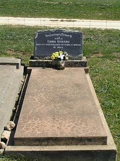 Howard Headstone at Greendale Cemetery, NSW