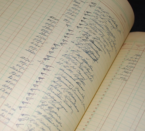vintage general ledger sheets | by everything vintage