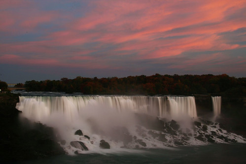 sunset newyork ontario bridalveilfalls americanfalls niagarafallsparks october2008