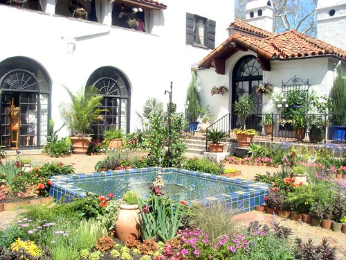 Spanish Courtyard at Froh Heim | by Jennifer Juniper mom