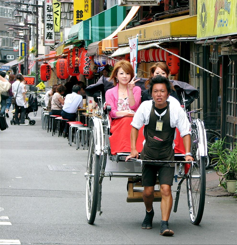 Japanese rickshaw in asakusa