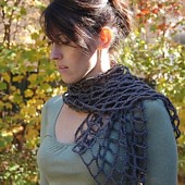 Crocheted Mesh Scarf | by Heidi Miller Hirtle