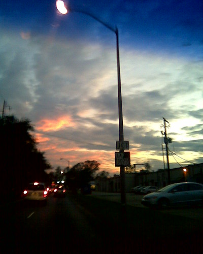 road trees sunset sky building cars sign lights parkinglot louisiana driving lafayette powerlines lamppost 365