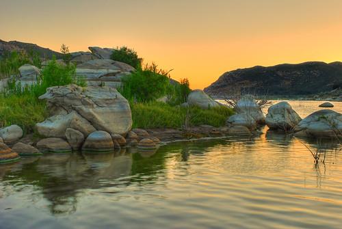 california sunset lake sandiego hdr twlight photoshopelements lakemorena photomatix nikond80 nikon1855