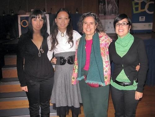 Janine Roberts con parte del comité organizador de ATFA.