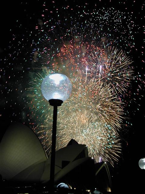 fireworks, opera house, Sydney 2000/2001