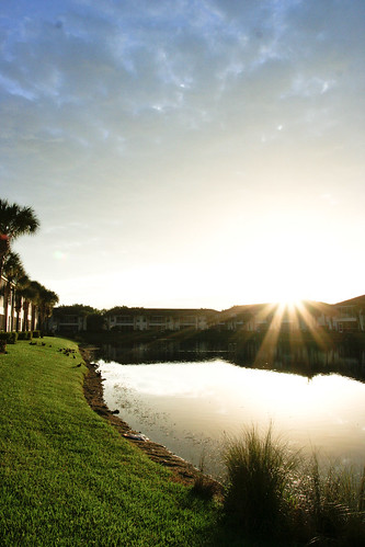 sky sun water sunrise pond ray florida beam naples landsacape