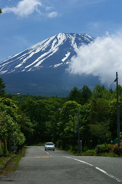 Car and Mount Fuji