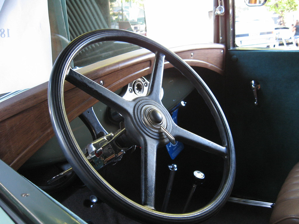 1931 Ford Model A Panel Interior | A Small Car Show At The C ...