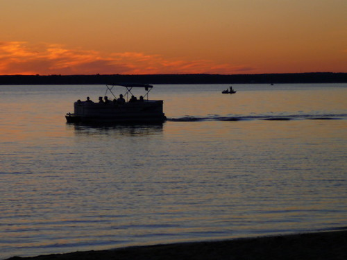sunset silhouette landscape michigan cadillac lakemitchell lakemitchel
