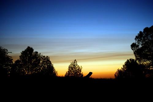 california blue trees sunset orange yellow clouds landscape evening dusk goodnight vista americanwest fairplay layered ★★★★★