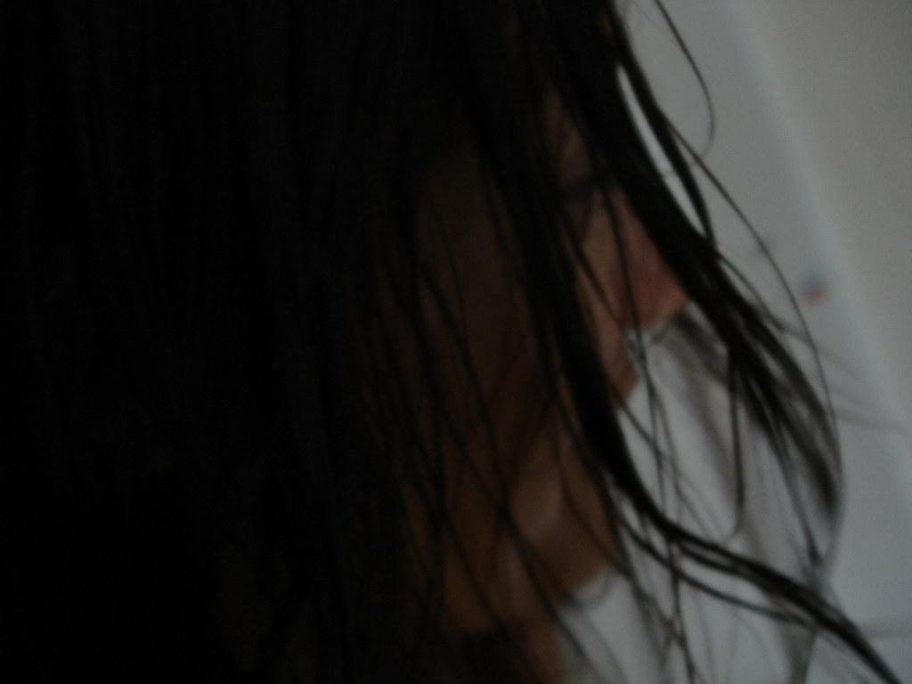 Wet hair in the morning