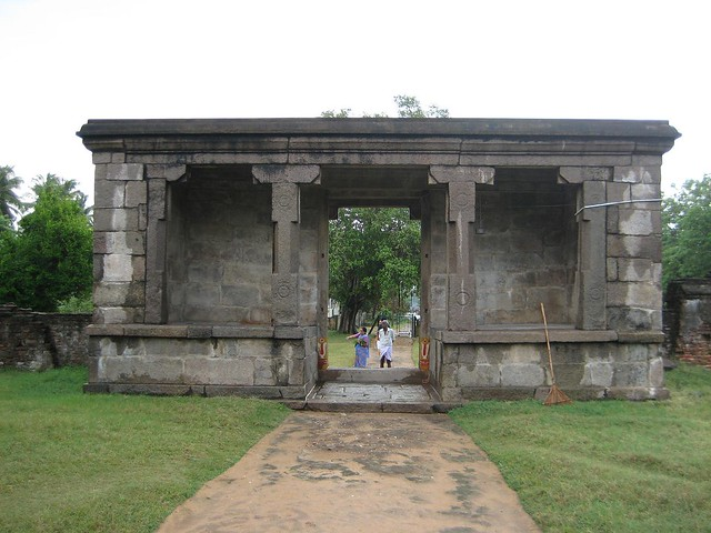 Inner entrance from the inside of the temple