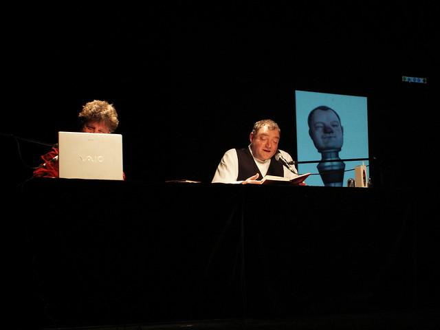 Wiglaf Droste und Nikolaus Heidelbach (halbverdeckt) 1.11.2008