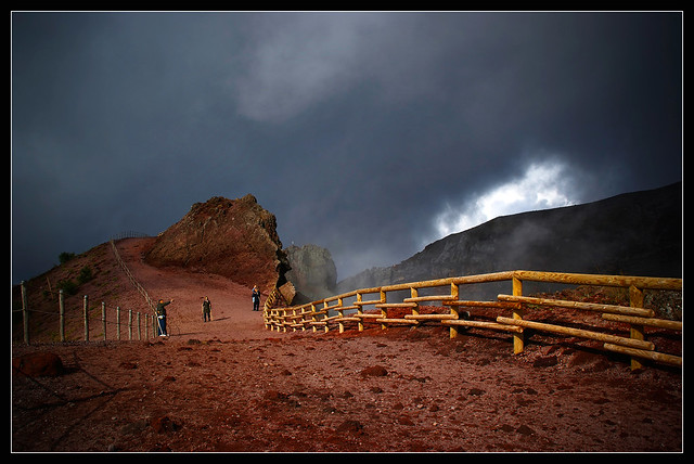At the top of the Vesuvius...