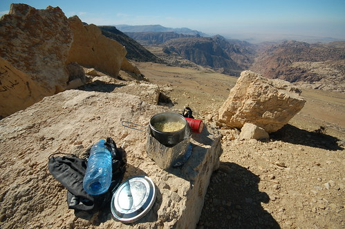 Lunch overlooking Dana valley | by tomsbiketrip.com