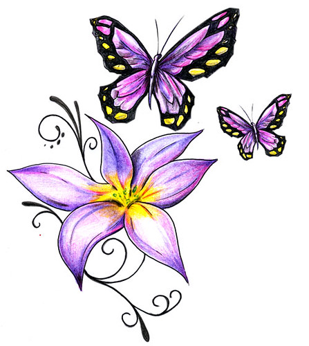Borboletasflorpra Tattoo Desenhopra Tattoo