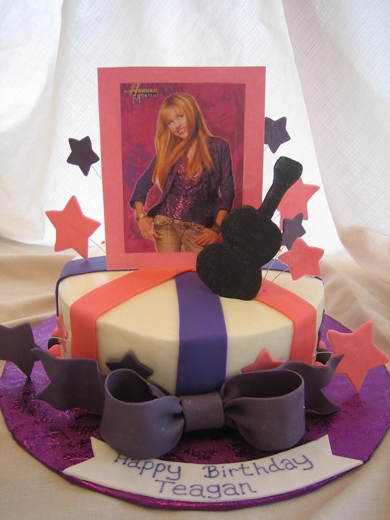 Super Hannah Montana Birthday Cake Hannah Montana Birthday Cake Flickr Birthday Cards Printable Inklcafe Filternl