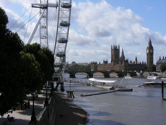 London eye, parliment