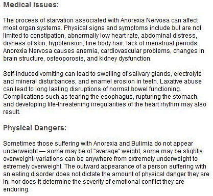 anorexia info | some info on anorexia read it before you tel