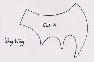 Dog Wing Pattern | by Stitcher Scribbler