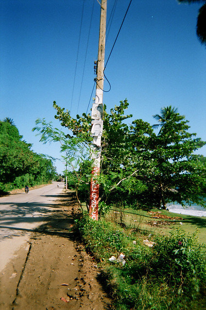Road by the sea in the DR