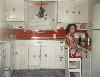 1951 kitchen photo with pull-out cabinet chair | by | El Caganer - Over 8.5 Million views!