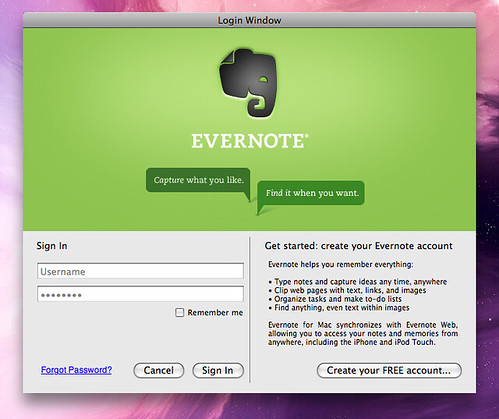 Evernote Login Help - 0425