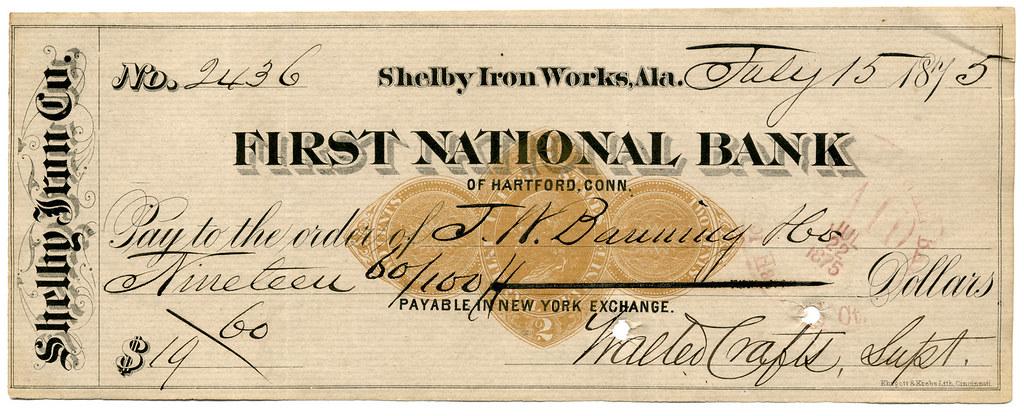 old bank check