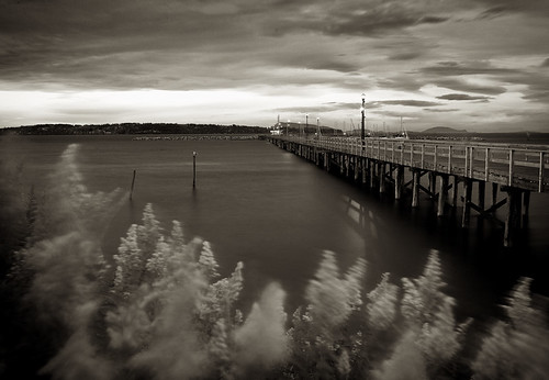 street longexposure sea urban bw beach water night vancouver clouds contrast sunrise canon pier seaside lowlight sand marine tide low whiterock piling tidepools tidal whiterockbc aworkofart