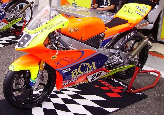 Honda 125 de la pilote française Ornella Ongaro