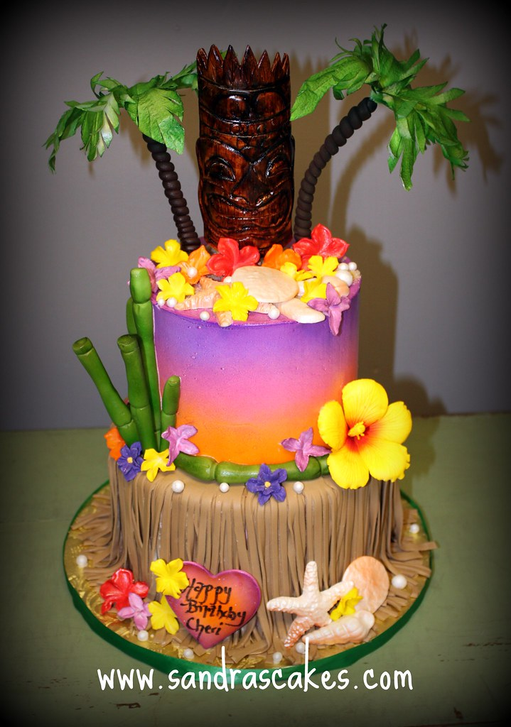 Miraculous Luau Birthday Cake Sandra Durbin Flickr Personalised Birthday Cards Cominlily Jamesorg