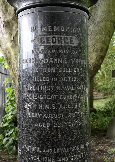 George Winwood memorial, Shotton Colliery