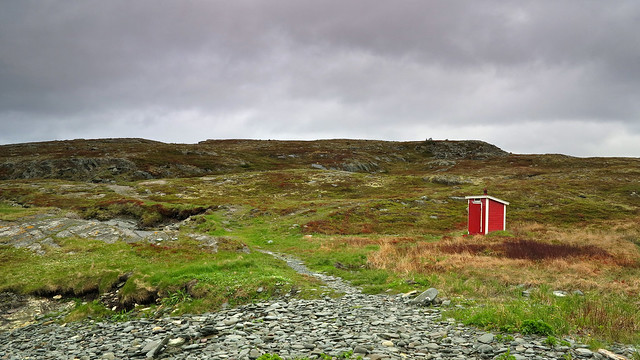 Red outhouse...