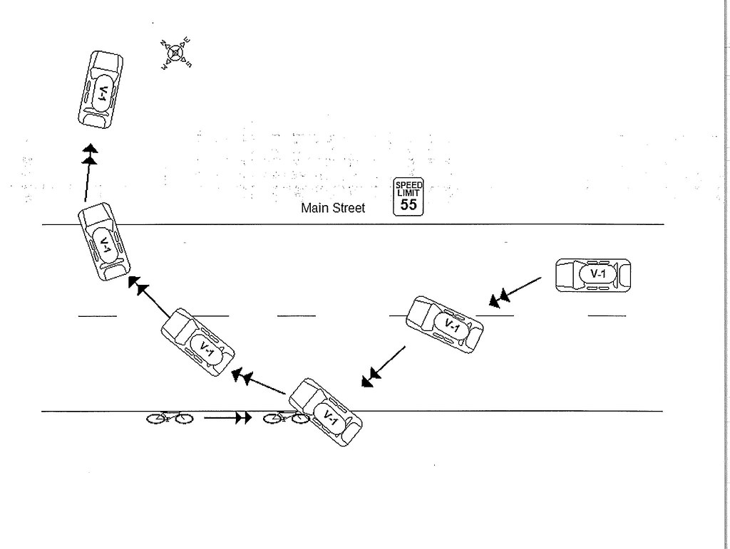 Accident Report Diagram   Drawn by the police in the ...