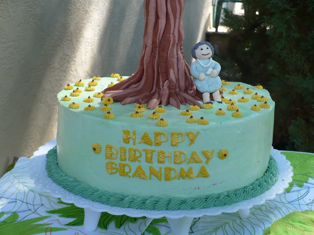 Tremendous Grandmas Birthday Cake Emily Flickr Funny Birthday Cards Online Chimdamsfinfo