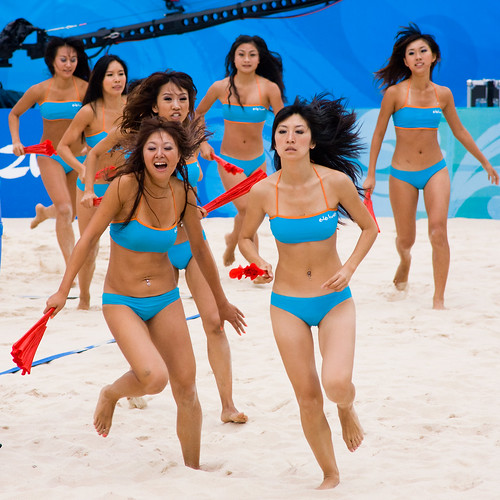 china girls summer hot beauty asian sand cheerleaders chinese beijing tan beachvolleyball bikini attractive volleyball fans olympics lovely 2008 chaoyangpark chaoyang 北京朝阳公园