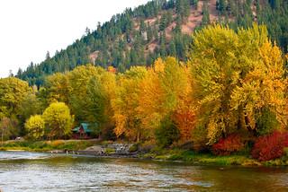 Wenatchee River downstream, Leavenworth | by stevevoght