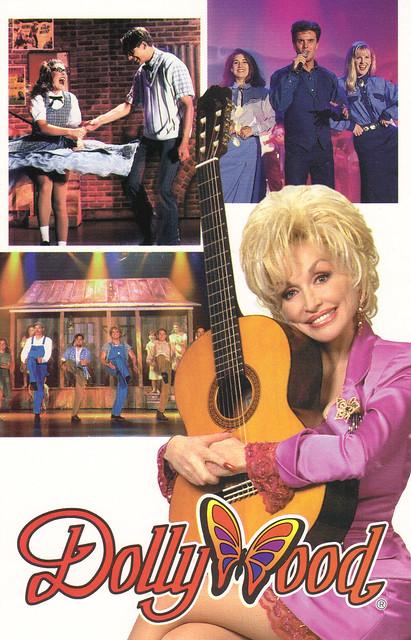 Dollywood Ad Postcard