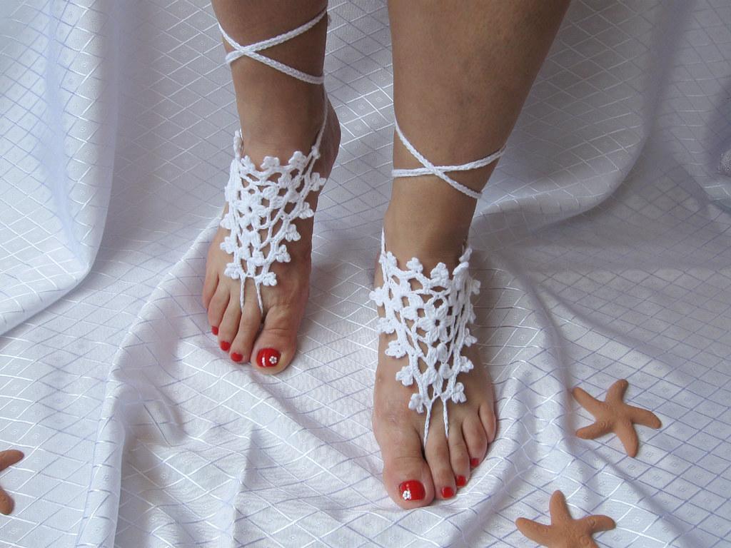 Bridal wedding barefoot sandals summer dance party sexy yo… | Flickr
