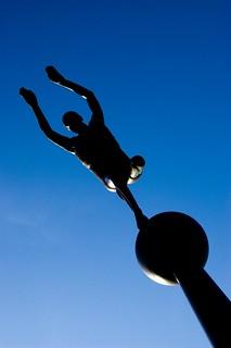 One legged athlete   by tony stanley